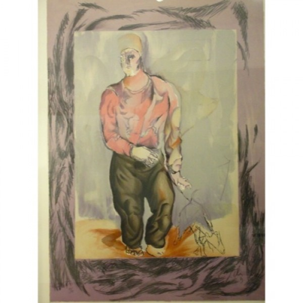 Sandro_Chia,_Man_with_Dog_Lithograph slide0