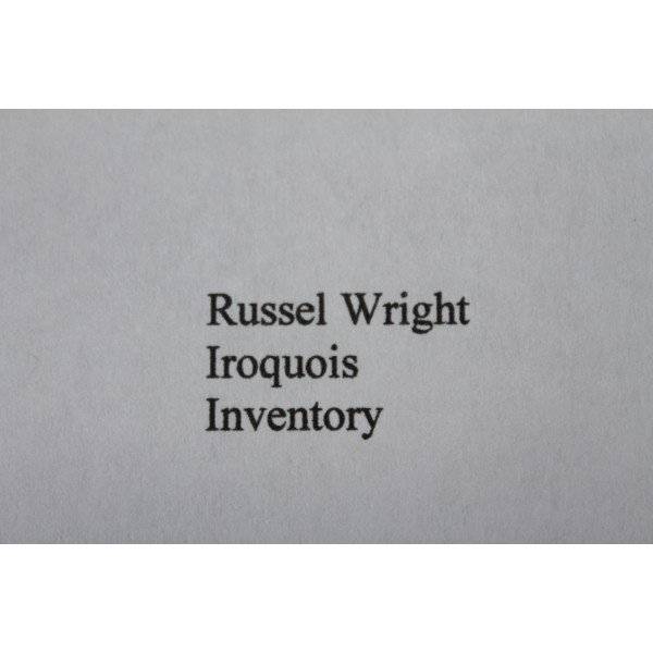 Russel_Wright_Iroquois_Inventory slide0
