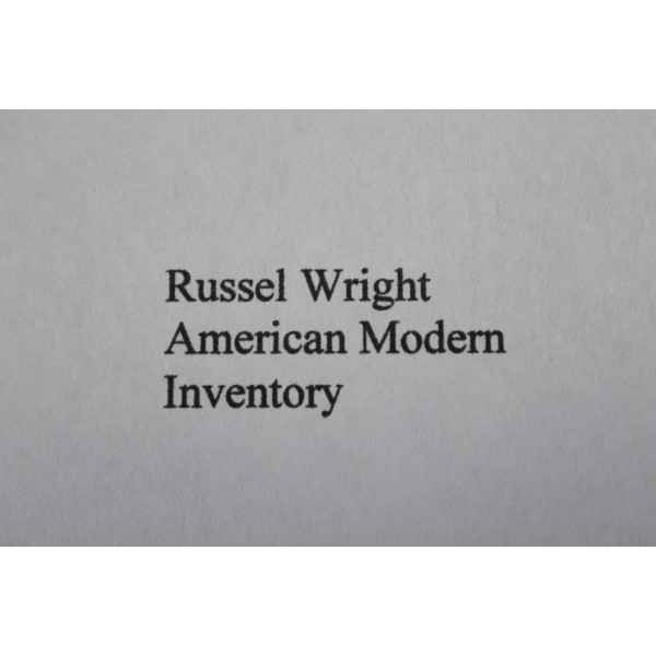 Russel_Wright_American_Modern_Inventory slide0