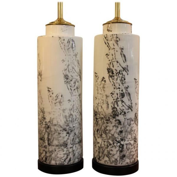 Pair_of_Abstract_Asian_Inspired_Ceramic_Lamps slide0