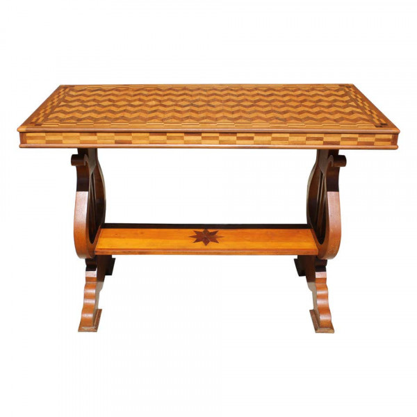 Parquetry_Table_with_Harp/Lyre_Supports slide0