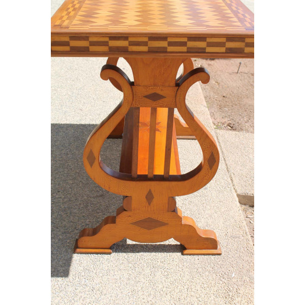 Parquetry_Table_with_Harp/Lyre_Supports slide4
