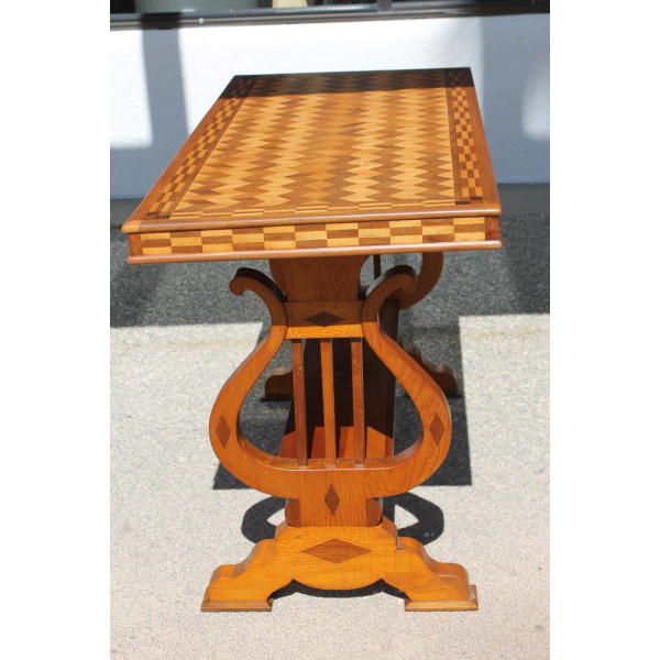 Parquetry_Table_with_Harp/Lyre_Supports slide3